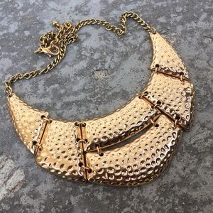 2/$16 Gold Toned Gladiator Statement Necklace